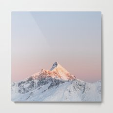 Mt Aspiring - square Metal Print