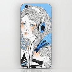 Blue girl iPhone & iPod Skin