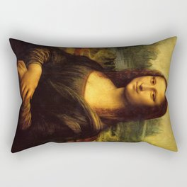 Mona Lisa - Leonardo da Vinci Rectangular Pillow