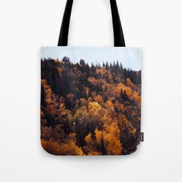 Beautiful Autumn Forest Orange & Brown Leaves Tote Bag