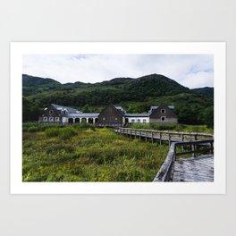 Abandoned Building, Loch Lomond Art Print