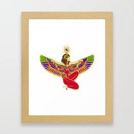 Winged Isis w/Eye of Horus Framed Art Print