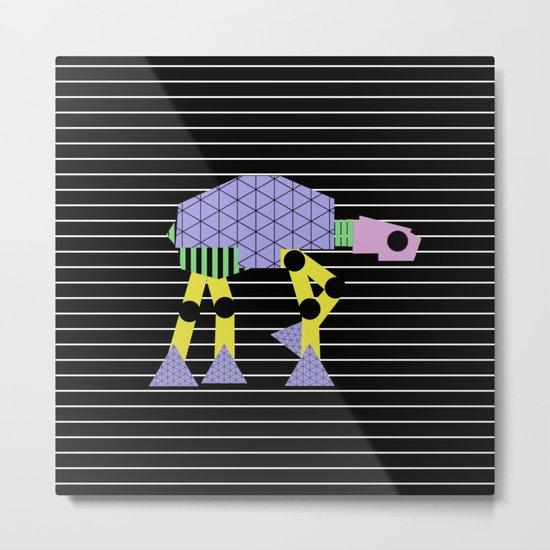 Geometric AT-AT Walker (Pastel Shapes Artwork - Cult Film) Metal Print