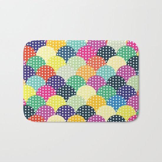 Colorful Circles III Bath Mat