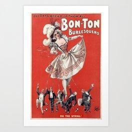 Vintage Bon Ton Burlesque Poster Art Print
