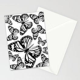 Monarch Butterflies | Monarch Butterfly | Vintage Butterflies | Butterfly Patterns | Black and White Stationery Cards