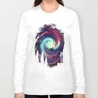 bicycle Long Sleeve T-shirts featuring Adventure Awaits by nicebleed