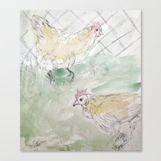 Rooster Sketch #1 Canvas Print