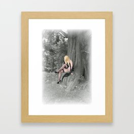 Lily in the wood. Framed Art Print
