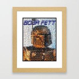 Boba Fett Staw Wars Mosaic Framed Art Print