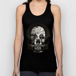 Room Skull B&W Unisex Tank Top