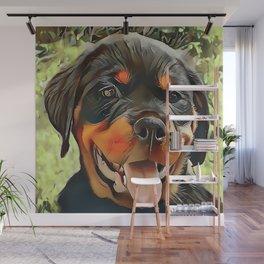 Chubby Rottweiler Puppy Wall Mural