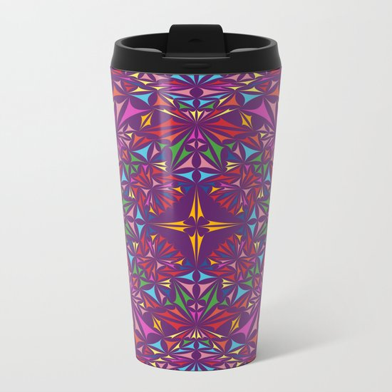 Kaleidoscope Metal Travel Mug