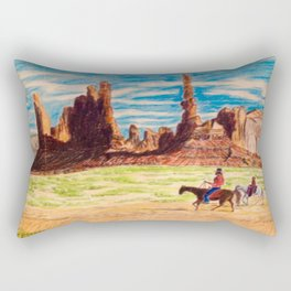 Southwest Native Americans Rectangular Pillow