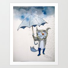 rain rain go away... Art Print