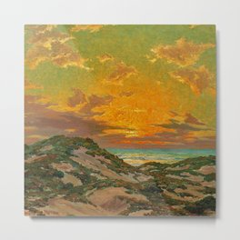 Sunset amid the Dunes by Granville Redmond Metal Print