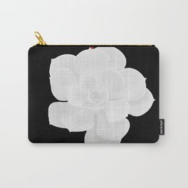 White Succulent On Black #decor #society6 #buyart Carry-All Pouch