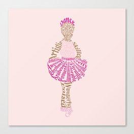Ballerina Word Art Canvas Print
