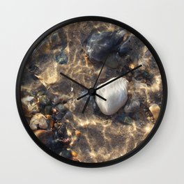 Lovely Pebbles at the Beach Wall Clock