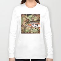trout Long Sleeve T-shirts featuring Trout Collage by MoosePaw