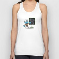 attack on titan Tank Tops featuring Attack on Titan Smurf Edition by Purrdemonium