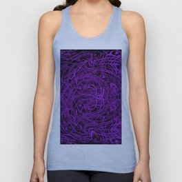 purple swirls Unisex Tank Top