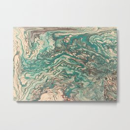 Turquoise Rivers Metal Print