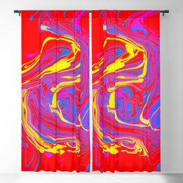 swirls on red Blackout Curtain