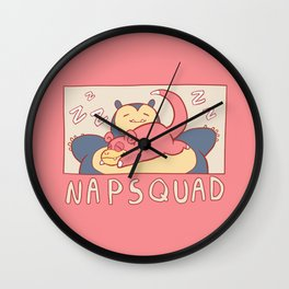napsquad Wall Clock