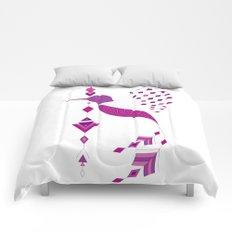 Vintage ethnic tribal aztec bird Comforters