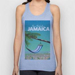 'Pure Paradise' Jamaica travel poster Unisex Tank Top