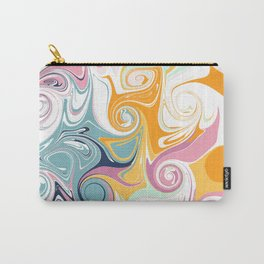 Minimalist Abstract Swirls Carry-All Pouch
