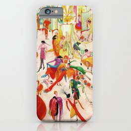 'Spring Sale Soireé at Bendels' Jazz Age New York City Portrait by Florine Stettheimer iPhone Case