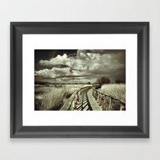 The Bridge. Retro serie Framed Art Print