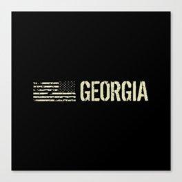Black Flag: Georgia Canvas Print