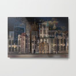 Digital Architecture Metal Print