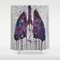 lungs Shower Curtains featuring Lungs by Kiera Wilson