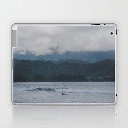 Lone Surfer - Hanalei Bay - Kauai, Hawaii Laptop & iPad Skin