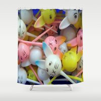 bunnies Shower Curtains featuring Bunnies by molldoll527