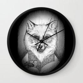 Librarian Fox Wall Clock