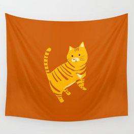 Orange Tabby Cat Wall Tapestry