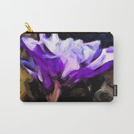 Flowers of Lavender and White with Reflection Carry-All Pouch