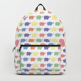 Multi coloured Elephant pattern (pastel) Backpack