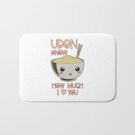 Udon Bowl Japanese Noodle Miso Soup Bath Mat