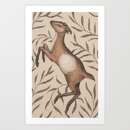 The Goat and Willow Art Print