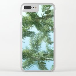 Nature photography tropical vibe vintage palm leaf I Clear iPhone Case