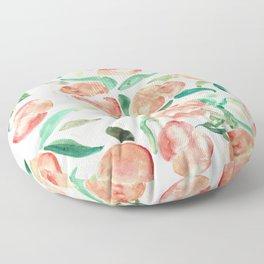 Watercolor Peaches Floor Pillow
