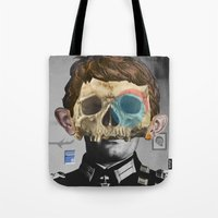 war Tote Bags featuring War Collage 2 by Marko Köppe