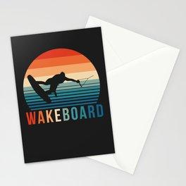 Wakeboarder Wakeboarding Design Stationery Cards