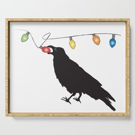 Holiday Crow Serving Tray